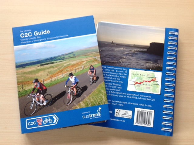 C2C coast to coast cycle guide book from Excellent Books