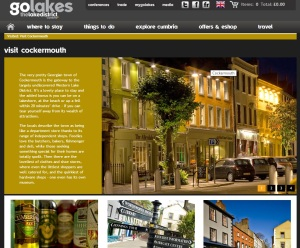 Cockermouth on Go Lakes website