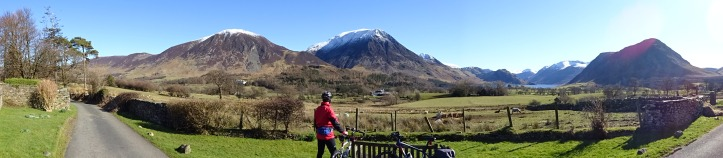 180 degree panorama from the C2C route at Loweswater