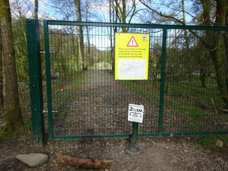 Blocked path on the Keswick to Threlkeld C2C route